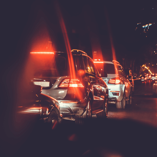 A photo of tail lights